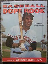Official 1974 Baseball Dope Book by the Sporting News - Bobby Bonds Cover