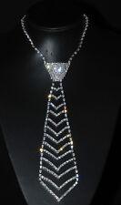 New Fashion One M Size Necktie Crystal Rhinestone Necklace #04 N476
