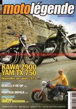 MOTO LEGENDE 138 SUZUKI SV KAWASAKI Z900 Z1 YAMAHA TX 750 MONTESA 175 BMW R80 GS