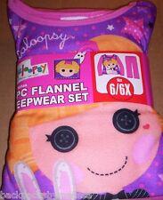 LaLaLoopSy Doll Girl's size 6/6x Pink Pajamas NeW L/S Shirt & Pants Pjs BUNNY