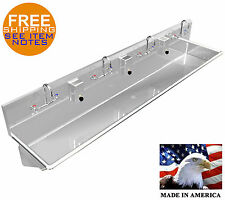 Multistation 4 Person 96 Commercial Hand Sink Wash Up Sink Stainless Steel 304