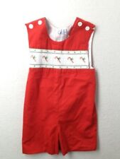Boy Orient Expressed Smocked Holiday Christmas Candy Cane Red Jon John Size 4