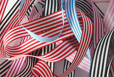 Pencil / candy stripe ribbon 16mm wide - 2 metres + Berisfords range of colours
