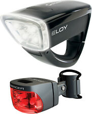 Sigma Sport Eloy + Cuberider Cycle Bicycle LED Light Set Black front and rear