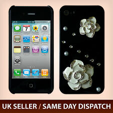 Bling Rhinestones 3D Diamond Rose iPhone 4S 4 Hard Case Cover for Girl Women