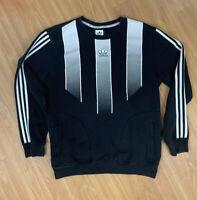 Adidas Skateboarding Long Sleeve Sport Shirt Mens Medium Black White Stripe EUC