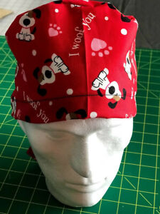 Surgical Scrub cap 100% cotton, washable, Handcrafted In USA.Same day shipping