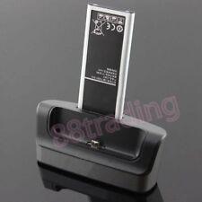 Dedicato Cradle Dock Desktop Caricabatterie + OTG per Samsung Galaxy nota 4 + BATTERIA