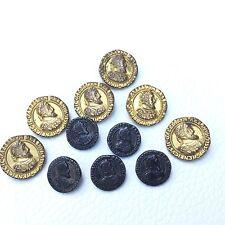 11 Boutons Anciens Henri II Roi Des Français Antique French Buttons