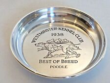 """Westminster Kennel Club 1938 Sterling Small Dish Impressed """"Best Of Breed"""""""