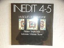 2 LP INEDIT 4-5 - Musiques d'Islam d'Asie- MAISON DES CULTURES DU MONDE NEUF µ