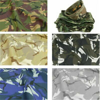 1 Yard Army Green Camo Camouflage Print 100% Cotton Material Fabrics AU