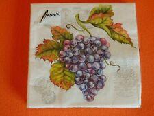 20 Servietten Weintrauben rot Weiß Packung OVP Ambiente Trauben grape vine WEIN