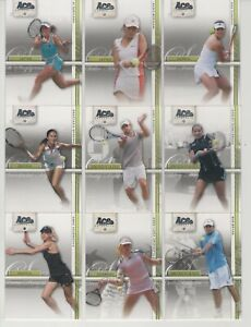 Ace Authentic Straight Sets 2007 tennis / Full base set - 50 cards