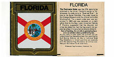 Vintage Florida state sticker decal flag medallion Gulf Oil gas Stations 1972
