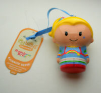 Hallmark Itty Bittys Rainbow Brite Plastic Holiday Christmas Ornament New Tags
