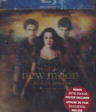Twilight New Moon (Blu-ray, 2009, Canadian, Bonus Poster) NEW Lenticular cover