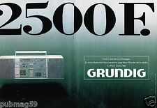 Publicité Advertising 1986 (2 pages) La Chaine Hi-Fi Grundig