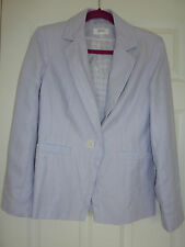M&S lilac pure linen jacket blazer 12 NWOT single breasted fully lined tailored