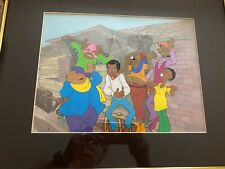 """1970's FAT ALBERT GANG Animation Cel 18x13 1/2"""" w/Painted Background."""