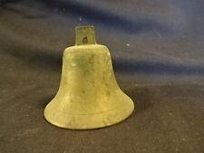 Old Vtg Brass Handheld School Teacher Bellhop Front Desk Ringing Bell