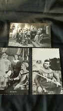3 postcards The Adventures of SIR LANCELOT 1950's TV William Russell