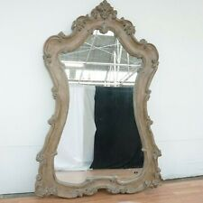Carved Natural Wood Leaning Mirror by Galaxy Home