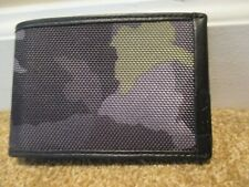 TUMI Alpha SLG Green Camo DOUBLE Billfold Ballistic Nylon Wallet RFID