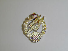 50022new  WW2 Croation Paratrooper badge german silver round pin