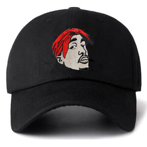 Tupac Shakur Cap Rap Singer Hip Hop Baseball Caps Head Portrait Snapback Dad Hat
