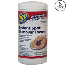 6 Pack Spot Remover Towels, Grease Pet Dirt Oil Stain Carpet Upholstery Cleaning