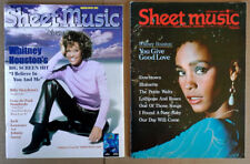 SHEET MUSIC MAGAZINE - WHITNEY HOUSTON - COVER STORIES - (2) ISSUES -1987 & 1997