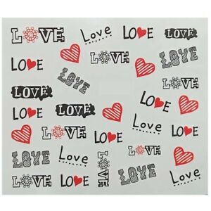 Love Nail Art Decorations Stickers Decal Water Transfer Tips Temporary Tattoos