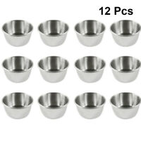 12pcs Sauce Cups Reusable Premium Dipping Bowls for Home Restaurant Dinner Party