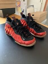 NIKE AIR FOAMPOSITE ONE RED METALLIC 314996-610 MEN SIZE 12 USED