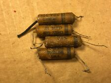 4 Vintage Cornell Dubilier Tiger .01 uf 400v Wax Guitar Tone Capacitors