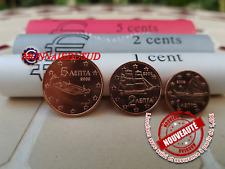 Série Courte 1Cent, 2Cent et 5Cent Grèce 2002F - Série UNC