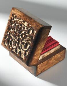 Fairtrade Mango Wood Hand Carved Owl Tree of Life Box