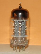 Tung Sol 12AU7 ECC82 Big D-Getter Vacuum Tube 1962 Results= 1645/1950