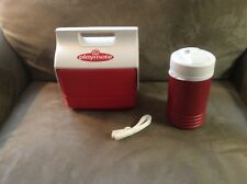 IGLOO PLAYMATE COOLER AND MATCHING THERMOS. 2 SETS AVAILABLE. MINT...