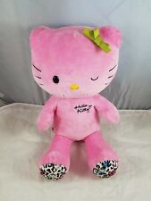 Build a Bear Workshop BAB collectable plush pink hello kitty leopard print 2012
