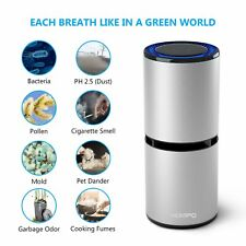 HOMPO Mini Car Ionizer Air Purifier Removes Dust Cigarette Smoke Bad Odors Gray