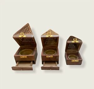 New Arabic Style Oudh Bakhoor Burner Incense Cone Oud Bukhoor Traditional Wood