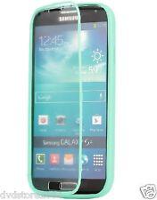 Custodia WALLET Cover VERDE ACQUA FRONTE TRASPARENTE per Samsung I9500 Galaxy S4