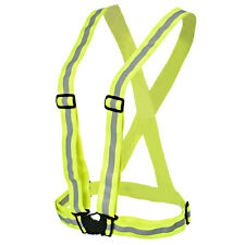 US Visibility Safety Lightweight Reflective Vest Belt  Cycling Running Walking
