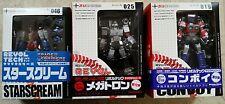 Kaiyodo Revoltech Transformers Convoy, Megatron, Starscream