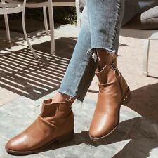 Beek Quail Ankle Boots Brown Leather Womens Size 7