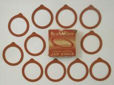 Vintage BerNARdin Single lipped Mason Jar Rings-all methods of Canning 11 unused