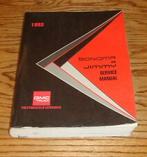 1993 GMC Truck Sonoma & Jimmy Shop Service Manual 93