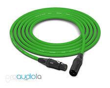 Canare Quad Cable L-4E6S | Neutrik Gold XLR-F XLR-M | Green 25 Feet | 25 Ft. 25'